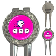 Run Face Pink 3 In 1 Golf Divots by Jojostore