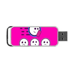 Run Face Pink Portable Usb Flash (one Side) by Jojostore