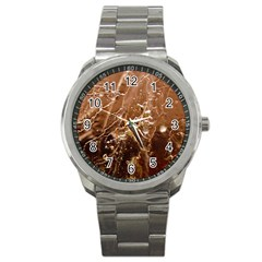 Ice Iced Structure Frozen Frost Sport Metal Watch by Amaryn4rt