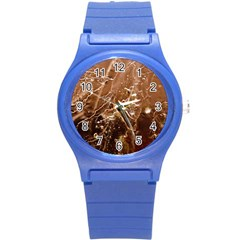 Ice Iced Structure Frozen Frost Round Plastic Sport Watch (s)