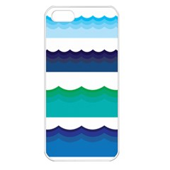 Water Border Water Waves Ocean Sea Apple Iphone 5 Seamless Case (white) by Amaryn4rt