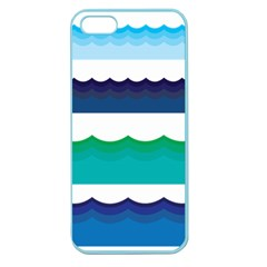 Water Border Water Waves Ocean Sea Apple Seamless Iphone 5 Case (color) by Amaryn4rt