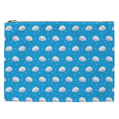 Seamless Fluffy Cloudy And Sky Cosmetic Bag (xxl)  by Jojostore