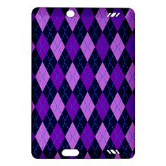 Tumblr Static Argyle Pattern Blue Purple Amazon Kindle Fire Hd (2013) Hardshell Case by Jojostore