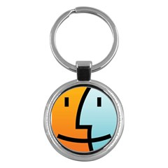 Two Fafe Orange Blue Key Chains (round)  by Jojostore