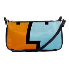 Two Fafe Orange Blue Shoulder Clutch Bags by Jojostore