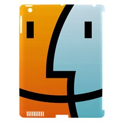 Two Fafe Orange Blue Apple Ipad 3/4 Hardshell Case (compatible With Smart Cover) by Jojostore