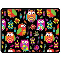 Ultra Soft Owl Fleece Blanket (large)  by Jojostore