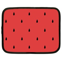 Watermelon Seeds Red Netbook Case (large) by Jojostore