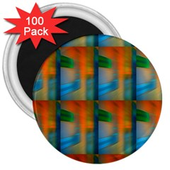 Wall Of Colour Duplication 3  Magnets (100 Pack) by Jojostore
