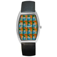 Wall Of Colour Duplication Barrel Style Metal Watch by Jojostore