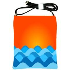 Water Orange Shoulder Sling Bags by Jojostore