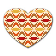 Wave Orange Red Yellow Rainbow Heart Mousepads by Jojostore
