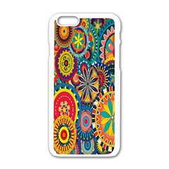 Tumblr Static Colorful Apple Iphone 6/6s White Enamel Case by Jojostore