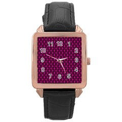 Webbing Woven Bamboo Pink Rose Gold Leather Watch  by Jojostore