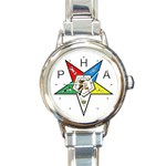 PHA Eastern Star Round Italian Charm Watch