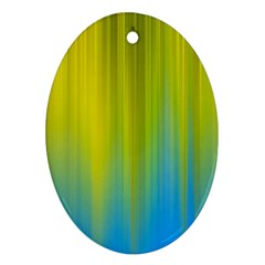 Yellow Blue Green Ornament (oval)  by Jojostore