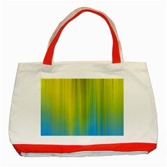 Yellow Blue Green Classic Tote Bag (red) by Jojostore