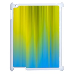 Yellow Blue Green Apple Ipad 2 Case (white)