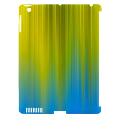 Yellow Blue Green Apple Ipad 3/4 Hardshell Case (compatible With Smart Cover) by Jojostore