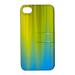 Yellow Blue Green Apple Iphone 4/4s Hardshell Case With Stand by Jojostore