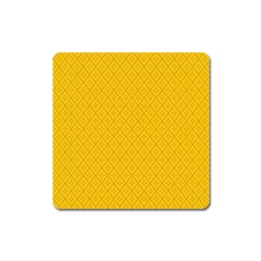 Yellow Flower Square Magnet