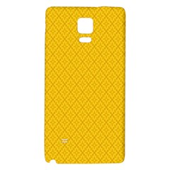 Yellow Flower Galaxy Note 4 Back Case by Jojostore