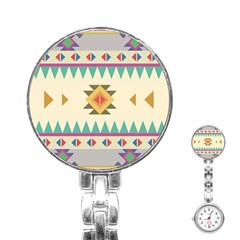 Your First Aztec Pattern Stainless Steel Nurses Watch by Jojostore