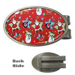 Xmas Santa Clause Money Clips (oval)  by Jojostore