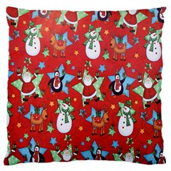 Xmas Santa Clause Standard Flano Cushion Case (one Side)