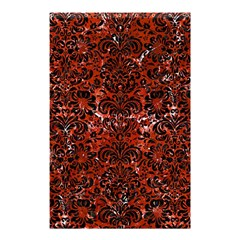 Damask2 Black Marble & Red Marble (r) Shower Curtain 48  X 72  (small)