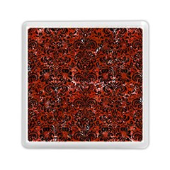 Damask2 Black Marble & Red Marble (r) Memory Card Reader (square) by trendistuff