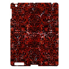 Damask2 Black Marble & Red Marble (r) Apple Ipad 3/4 Hardshell Case by trendistuff