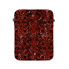 Damask2 Black Marble & Red Marble Apple Ipad 2/3/4 Protective Soft Case by trendistuff