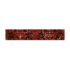 Damask2 Black Marble & Red Marble Flano Scarf (mini) by trendistuff