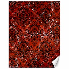 Damask1 Black Marble & Red Marble (r) Canvas 12  X 16  by trendistuff