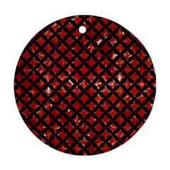 Circles3 Black Marble & Red Marble (r) Ornament (round) by trendistuff