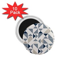 Geometric Triangle Modern Mosaic 1 75  Magnets (10 Pack)  by Amaryn4rt