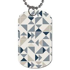 Geometric Triangle Modern Mosaic Dog Tag (one Side) by Amaryn4rt