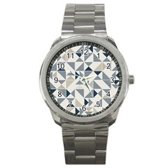 Geometric Triangle Modern Mosaic Sport Metal Watch by Amaryn4rt