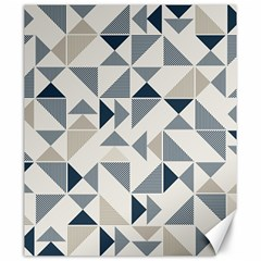 Geometric Triangle Modern Mosaic Canvas 20  X 24   by Amaryn4rt