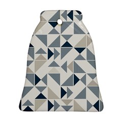 Geometric Triangle Modern Mosaic Bell Ornament (2 Sides) by Amaryn4rt