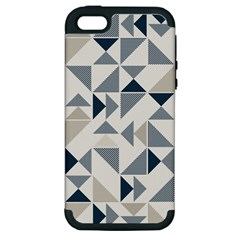 Geometric Triangle Modern Mosaic Apple Iphone 5 Hardshell Case (pc+silicone) by Amaryn4rt