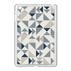Geometric Triangle Modern Mosaic Apple Ipad Mini Case (white) by Amaryn4rt