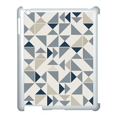 Geometric Triangle Modern Mosaic Apple Ipad 3/4 Case (white) by Amaryn4rt