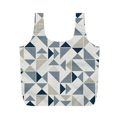 Geometric Triangle Modern Mosaic Full Print Recycle Bags (m)  by Amaryn4rt