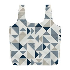 Geometric Triangle Modern Mosaic Full Print Recycle Bags (l)  by Amaryn4rt