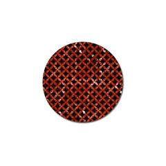 Circles3 Black Marble & Red Marble Golf Ball Marker (10 Pack) by trendistuff