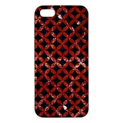 Circles3 Black Marble & Red Marble Iphone 5s/ Se Premium Hardshell Case by trendistuff