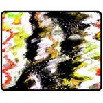 Canvas Acrylic Digital Design Art Double Sided Fleece Blanket (Medium)  58.8 x47.4 Blanket Back